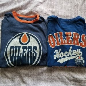 Boys NHL Edmonton Oilers Shirt Bundle Size 10-12